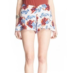 Free People Fiona Floral High Waisted Shorts 4